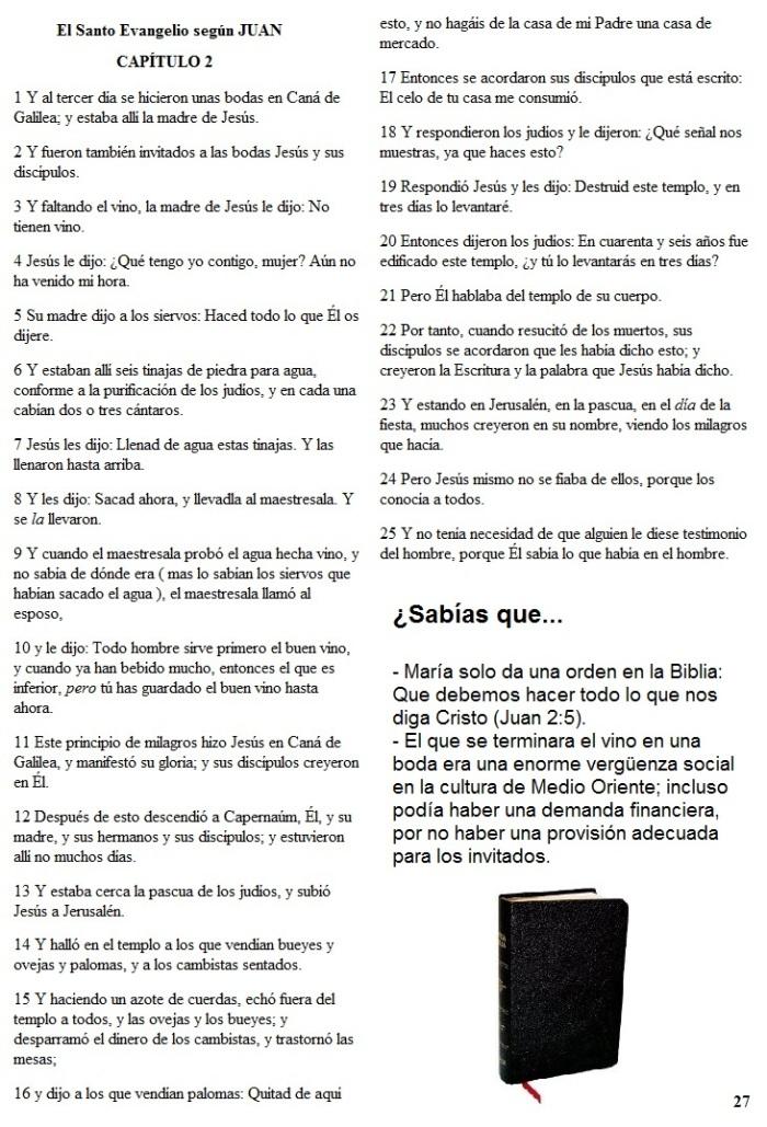El Evangelio según JUAN Capítulo 2
