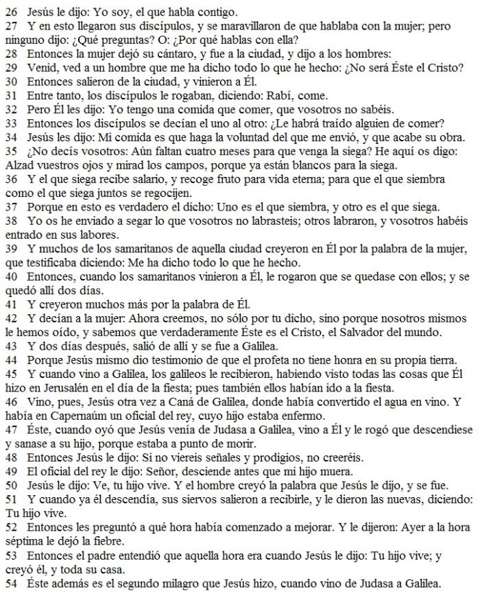 El Evangelio según JUAN Capítulo 4 (2 de 2)